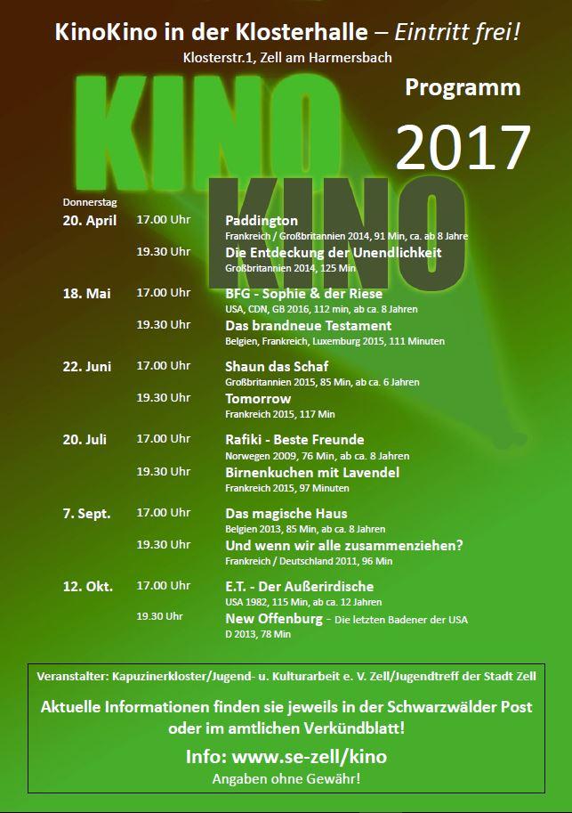 KinoKino Programm 2017